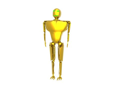 futuristic golden humanoid robot