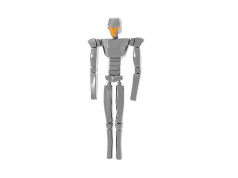 shiny silver humanoid robot