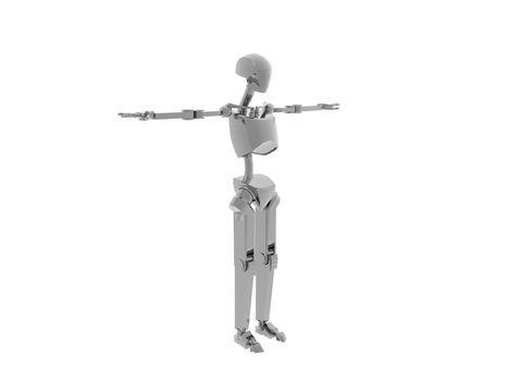 futuristic silver humanoid robot