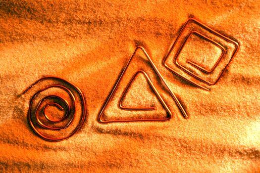 Symbols On Sand