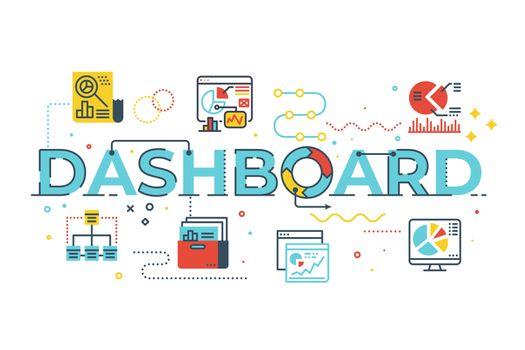 Dashboard word illustration