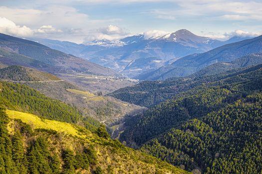 Spanish Pyrenees mountain in Catalonia