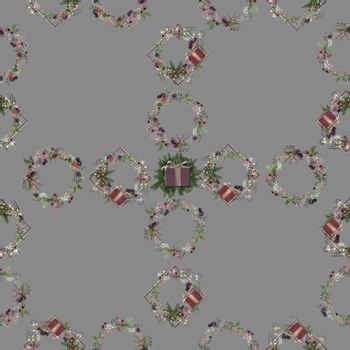 Luxury unique seamless design for Christmas pattern