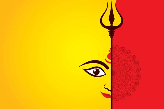Illustration of Navratri utsav greeting card which is celebrate in India