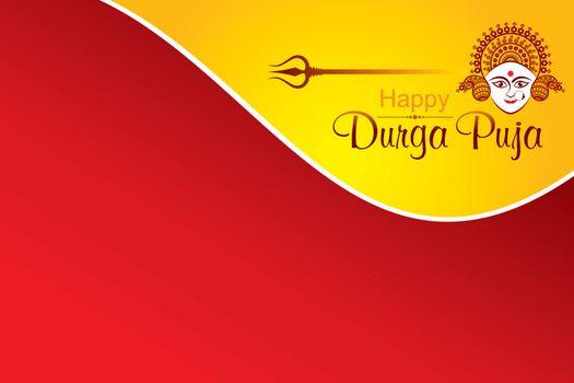 Illustration of Navratri utsav greeting card which is celebrate in India