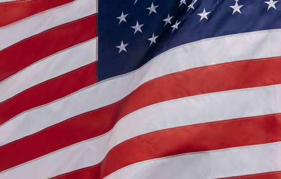 American Flag flowing with waving in the wind USA flag