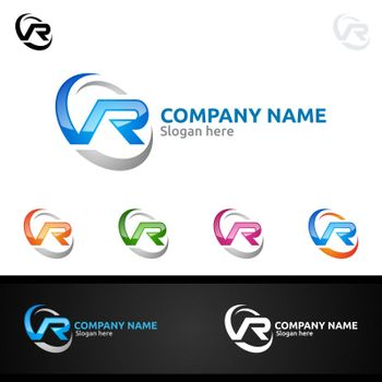Letter R for Digital Vector Logo, Marketing, Financial, Advisor or Invest Design Icon