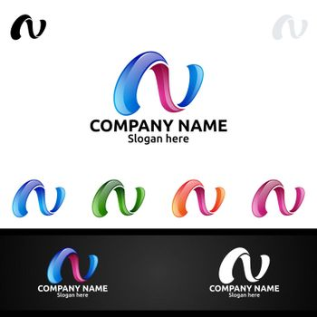 Letter N for Digital Vector Logo, Marketing, Financial, Advisor or Invest Design Icon