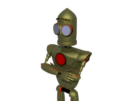 humanoid steel cartoon robot