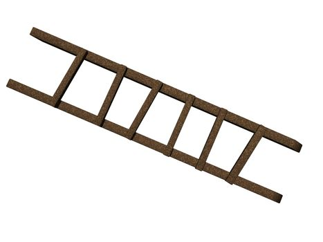 wooden ladder with rungs