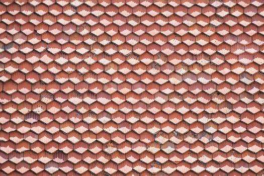 Roof tiles pattern in daylight
