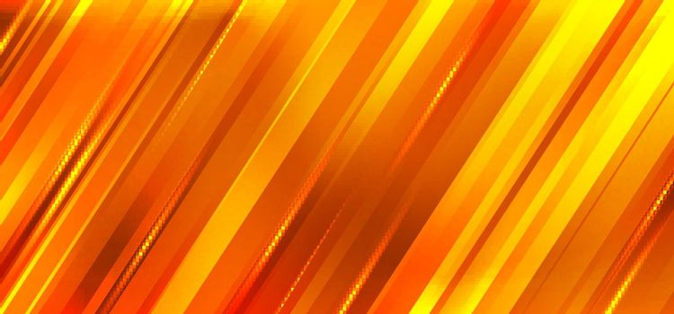 Abstract orange and yellow gradient diagonal stripes motion blur background. Vector illustration