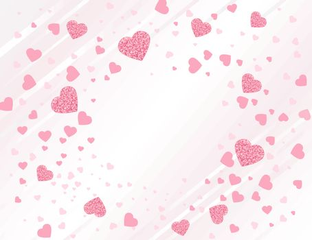 Vector illustration background with hearts. Invitation Template Background Design, Valentines Day or Mothers Day
