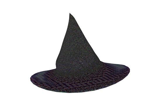 black witch hat with brim