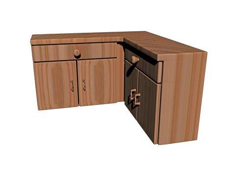 wooden base cabinets in the kitchen