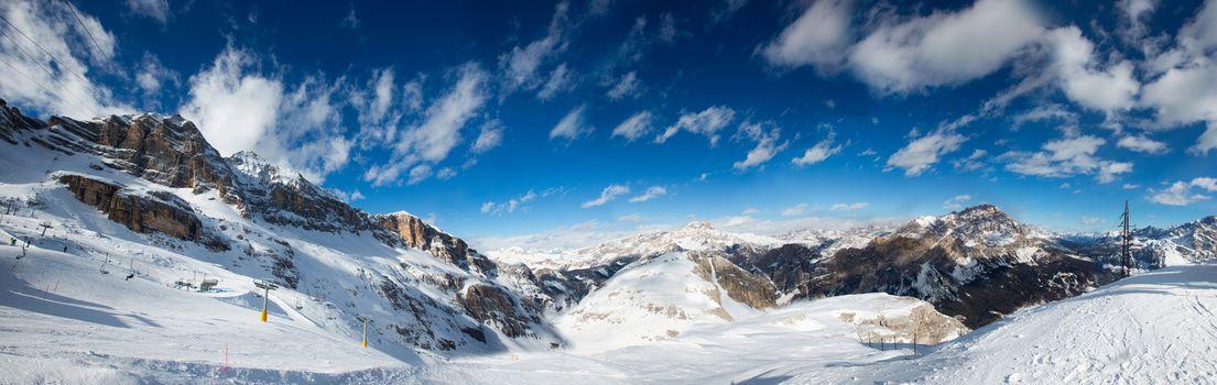 Toffana Dolomites winter mountains