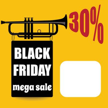 Black friday banner  Retro style. Vector