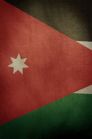 The central part of the flag of the state of Jordan