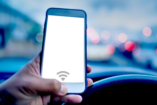 The concept of safety in using smart phone technology for communication while driving.