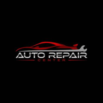 auto car repair service logo concept. sportcar with wrench elements stock illustration.