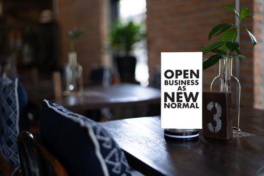OPEN BUSINESS AS NEW NORMAL Coronavirus corona virus prevention on