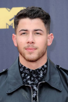 Nick Jonas at the 2018 MTV Movie And TV Awards held at the Barker Hangar in Santa Monica, USA on June 16, 2018.