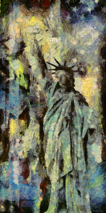 Statue of Liberty. 3D rendering