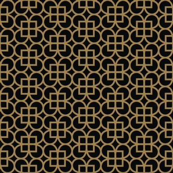Abstract seamless pattern. Geometric line gold ornament. Ornamental stylish background.