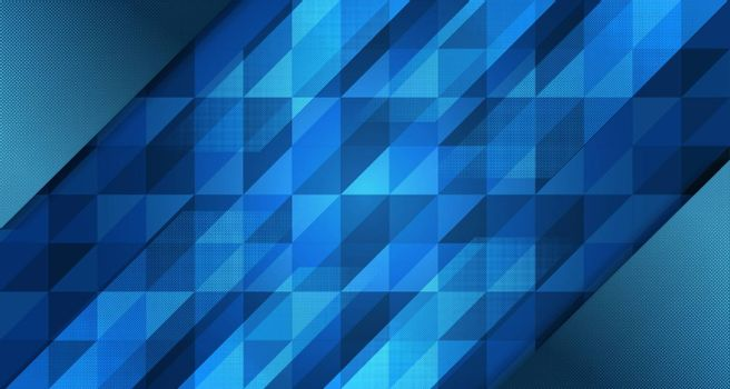 Abstract blue background gradient design with geometric composition.Futuristic minimal pattern place for text or message.Trendy and modern Cool banner design template.