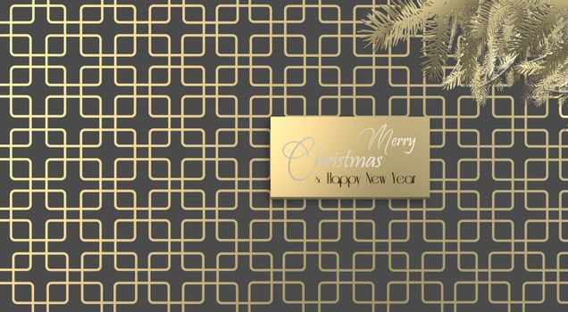Christmas background in art deco