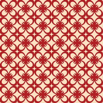Vector floral seamless pattern, vector repeating texture background