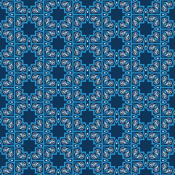 Seamless pattern decorative symmetries, ornament pattern vector illustration