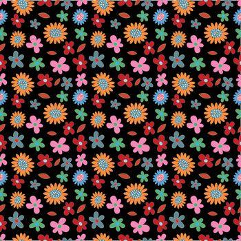 flower spring seamless pattern background