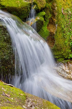 Waterfall, Mountain Forest Footpath, Annapurna Conservation Area, Himalaya, Nepal