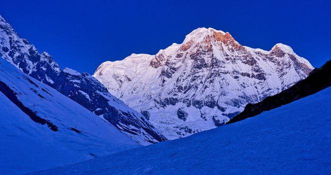 Annapurna South, Annapurna Range Sunrise,Himalaya, Nepal