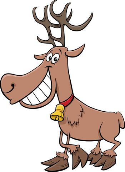 Cartoon Illustration of Santa Claus Christmas Character with Presents
