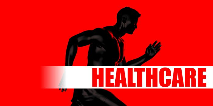 Healthcare Concept with Fit Man Running Lifestyle
