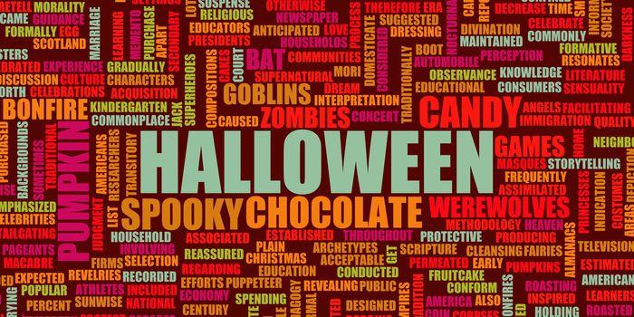 Halloween Concept Background with Children Theme Art