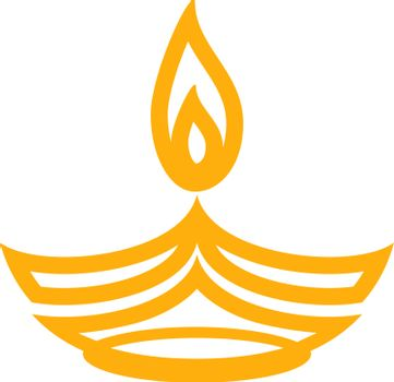 Candle happy diwali congratulations on national holiday in november