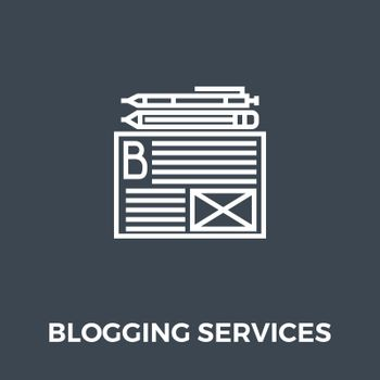 Blogging Services Related Vector Thin Line Icon. Isolated on Black Background. Vector Illustration.