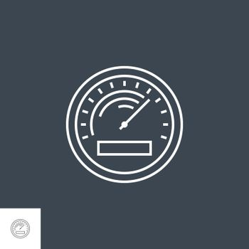 Efficiency Related Vector Thin Line Icon. Isolated on Black Background. Editable Stroke. Vector Illustration.
