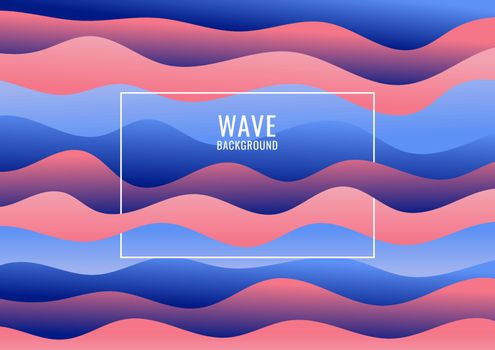 Abstract blue and pink wave pattern background and texture. Vector illustration