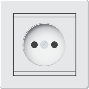 Classic socket with European connection style. Vector illustration.