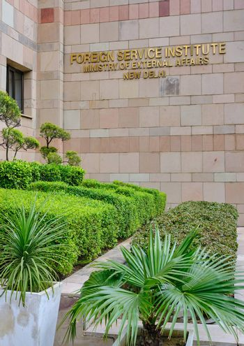 New Delhi / India - September 20, 2019: The Foreign Service Institute (FSI) of the Ministry of External Affairs of India is the institute in New Delhi where Foreign Service officers are trained.