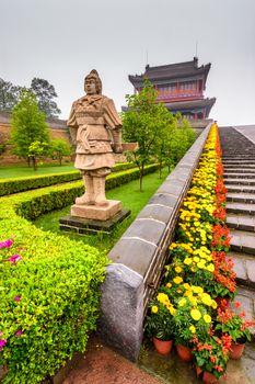 Qinhuangdao / China - July 23, 2016: Laolongtou Great Wall (Old Dragon's Head) where the Great Wall of China meets the Bohai Sea
