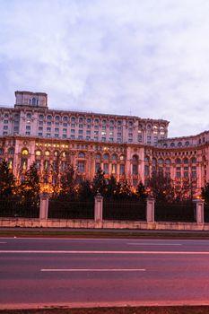 Palace of the Parliament (Palatul Parlamentului) in Bucharest, capital of Romania, 2020