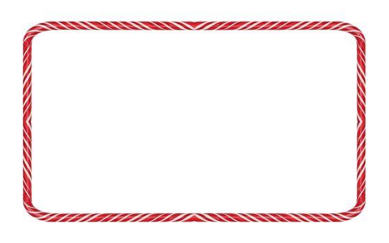 Candy cane Christmas frame