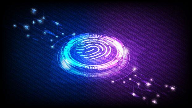 Fingerprint identity sensor, isometric illustration