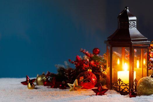 Christmas lantern and decorations