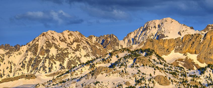 Mountains Landscape, The Central Pyrenees, Spain